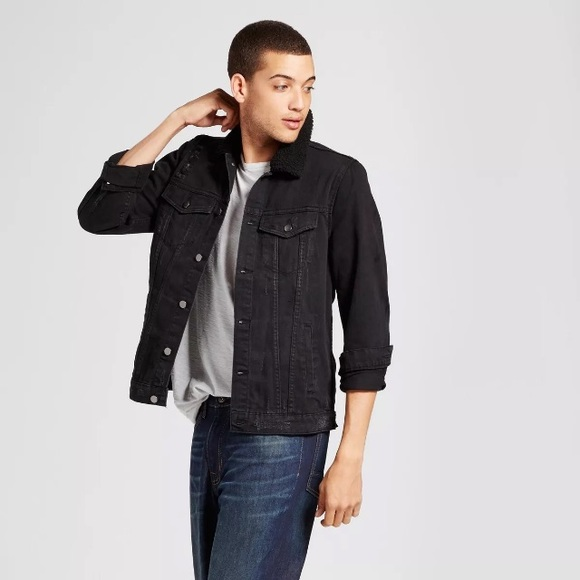 distressed black jean jacket mens